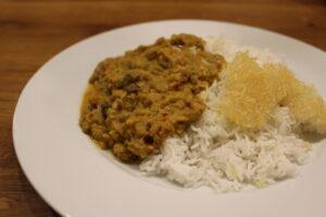 Indisches Auberginen-Curry (Baingan Bharta)